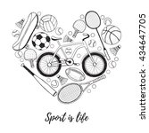 collection of vector sport... | Shutterstock .eps vector #434647705