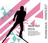 ski man silhouette colorful... | Shutterstock .eps vector #434651317