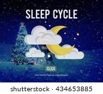 sleep cycle human sleeping... | Shutterstock . vector #434653885