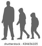 men silhouette  isolated | Shutterstock .eps vector #434656105
