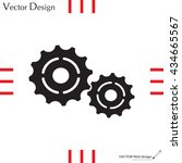 vector cog settings icon symbol | Shutterstock .eps vector #434665567