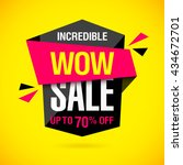 incredible wow sale banner... | Shutterstock .eps vector #434672701