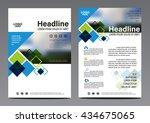black pattern brochure annual... | Shutterstock .eps vector #434675065