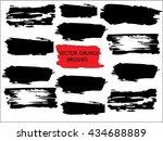 set brush line collection.... | Shutterstock .eps vector #434688889