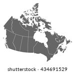 map   canada | Shutterstock .eps vector #434691529