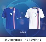 color soccer t shirts of... | Shutterstock .eps vector #434695441