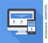 responsive web design long... | Shutterstock .eps vector #434697091