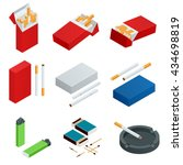 box of matches  lighters ... | Shutterstock .eps vector #434698819