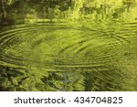 ripple circles on the surface... | Shutterstock . vector #434704825