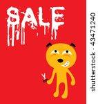 doggy sale board | Shutterstock .eps vector #43471240