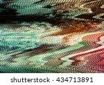 no signal television screen... | Shutterstock . vector #434713891