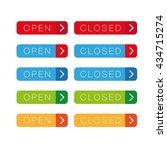 open closed button set   Shutterstock .eps vector #434715274