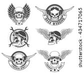 Set Of Motorcycle Club Labels...
