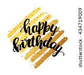 trendy lettering poster. hand...   Shutterstock .eps vector #434719009