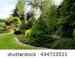 beautiful spring garden design  ... | Shutterstock . vector #434723521