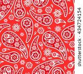 paisley seamless pattern | Shutterstock .eps vector #434724154