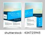 abstract vector modern flyers...   Shutterstock .eps vector #434725945