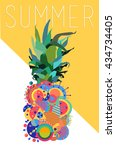 colorful summer concept... | Shutterstock .eps vector #434734405