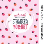 strawberry vector illustration. ... | Shutterstock .eps vector #434741281