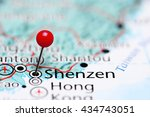 Shenzen pinned on a map of China