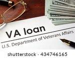 paper with words va loan.   Shutterstock . vector #434746165