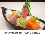 japanese food salmon roe sea... | Shutterstock . vector #434748829