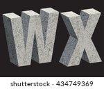 concrete 3d letters. vector... | Shutterstock .eps vector #434749369