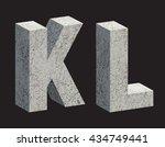 concrete 3d letters. vector... | Shutterstock .eps vector #434749441