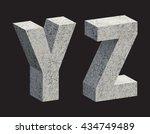 concrete 3d letters. vector... | Shutterstock .eps vector #434749489
