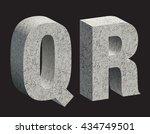 concrete 3d letters. vector... | Shutterstock .eps vector #434749501