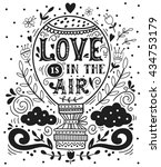 love is in the air. hand drawn... | Shutterstock .eps vector #434753179