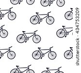 pattern bicycles | Shutterstock .eps vector #434753209