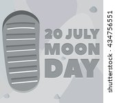 moon day poster. footprint ... | Shutterstock .eps vector #434756551