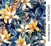 vintage floral vector seamless... | Shutterstock .eps vector #434762365