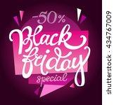 black friday sale vector banner.... | Shutterstock .eps vector #434767009