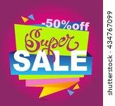 sale vector banner. super sale...   Shutterstock .eps vector #434767099