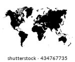 big world map. isolated on...   Shutterstock .eps vector #434767735