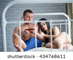 problems in the family. angry...   Shutterstock . vector #434768611
