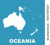 australia and oceania map. flat ... | Shutterstock .eps vector #434769367