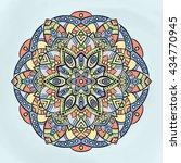 flower mandalas. vintage... | Shutterstock .eps vector #434770945