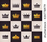 elegant crown icons set....   Shutterstock .eps vector #434778979