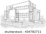 architectural drawings. sketches | Shutterstock .eps vector #434782711
