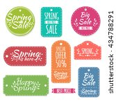set of colored spring stickers... | Shutterstock . vector #434788291