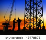 group of the workers on a... | Shutterstock . vector #43478878