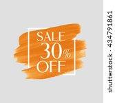 sale 30  off sign over grunge... | Shutterstock .eps vector #434791861