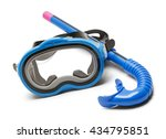 blue diving mask and snorkel... | Shutterstock . vector #434795851