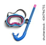 diving snorkel and mask...   Shutterstock . vector #434796751