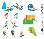 a set of people with different... | Shutterstock .eps vector #434799889