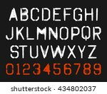 spray paint stencil font type...