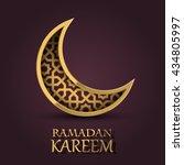 ramadan kareem cover  ramadan... | Shutterstock .eps vector #434805997